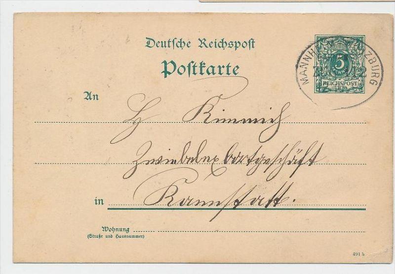 D.-Reich Bahnpost -Stempel Beleg !  ( be7904 ) siehe scan  !