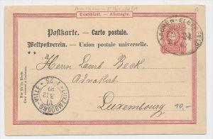 D.-Reich Bahnpost -Stempel Beleg !  ( be7901 ) siehe scan  !