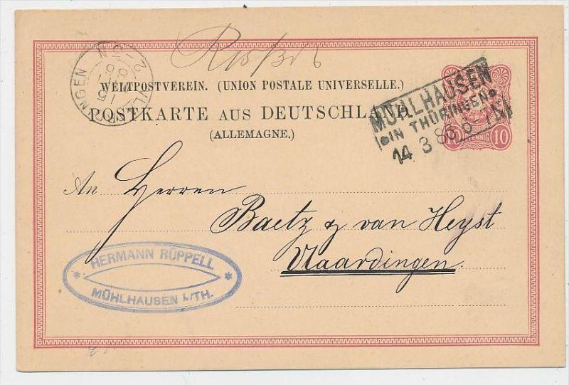 D.-Reich Stempel Beleg -GS - Mühlhausen   (be7959  ) siehe scan