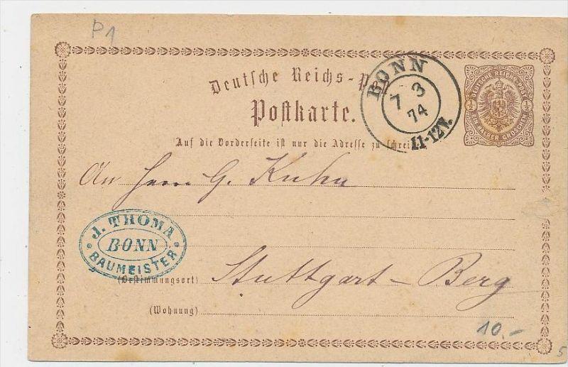 D.Reich Stempel Beleg -GS  -Bonn ... ( be8373  ) siehe scan