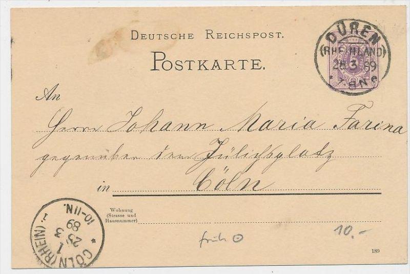 D.Reich Stempel Beleg -GS  -Düren   ... ( be8371  ) siehe scan