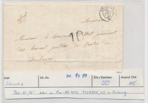 Schweiz -netter alter Brief  Tax Brief   Yverdon ( be9090 ) siehe scan