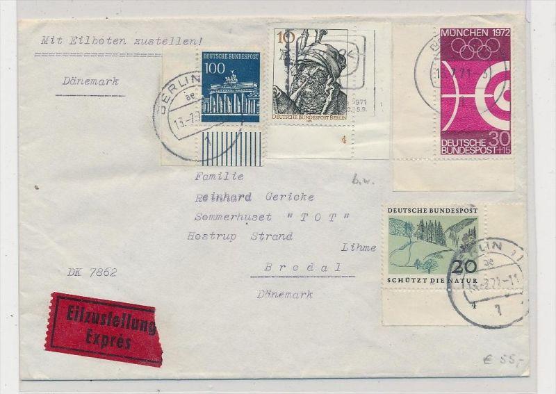 Bund Express Brief nach DK...Frankatur beachten !  ( be8432 ) siehe scan