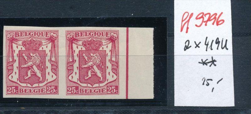 Belgien Nr.   2x 419 U  **   ( ff9796   ) siehe scan