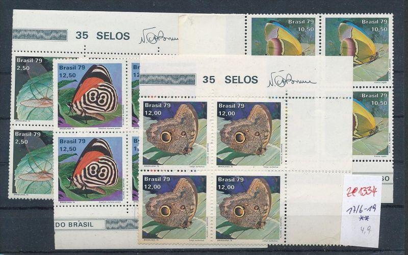 Brasilien Schmetterlinge 4x   ** (ze1334 ) siehe scan