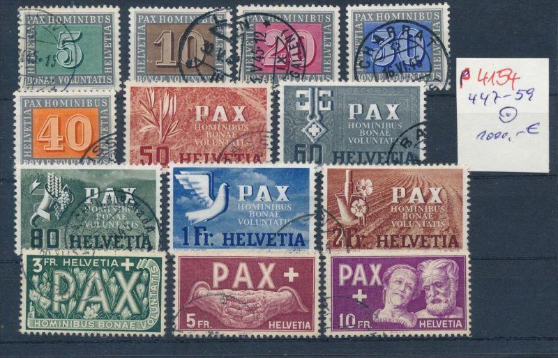 Schweiz Nr. 447-59 Pax Satz o -echt !   (p4154  ) siehe scan....
