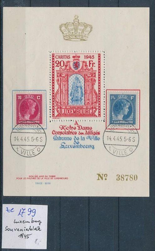 Luxemburg Souvenier Block ?  1945  (ze1799   ) siehe scan  !