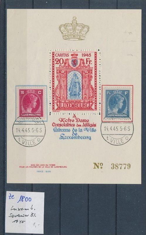 Luxemburg Souvenier Block ?  1945  (ze1800   ) siehe scan  !