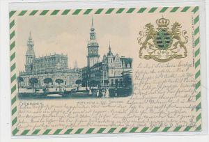 Sachsen  alte Karte- Dresden Wappen Präge   (da5774   ) siehe scan....
