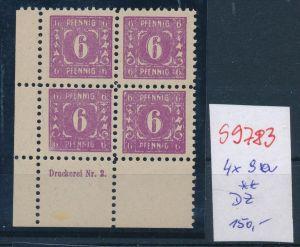 SBZ  Nr. 4x 9a  DZ   ( s9783   ) bitte Bild beachten