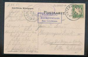 Bayern Karte Postilfsstelle  - Hochgernhaus   (da5885 )  siehe Bild