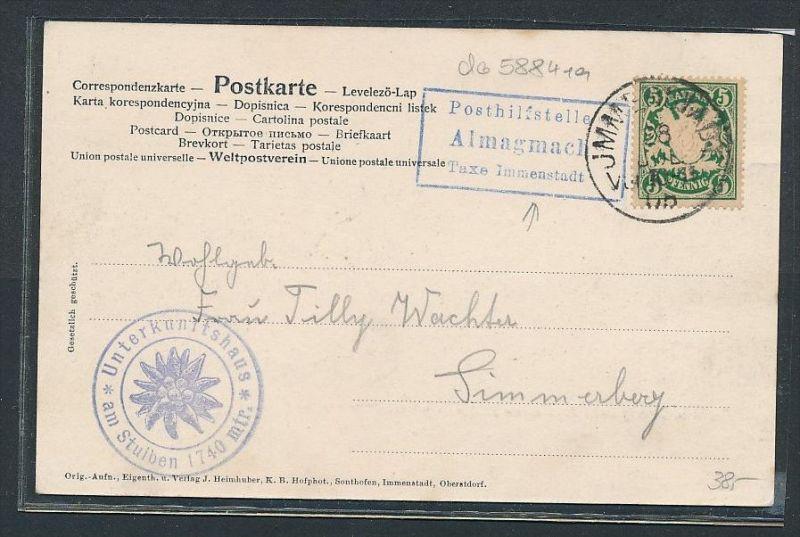 Bayern Karte Postilfsstelle  - Almagmach    (da5884 )  siehe Bild