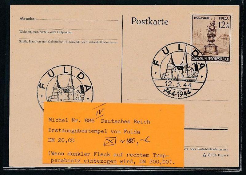 D.-Reich  FDC  886  IV       (g2031  )  siehe Bild