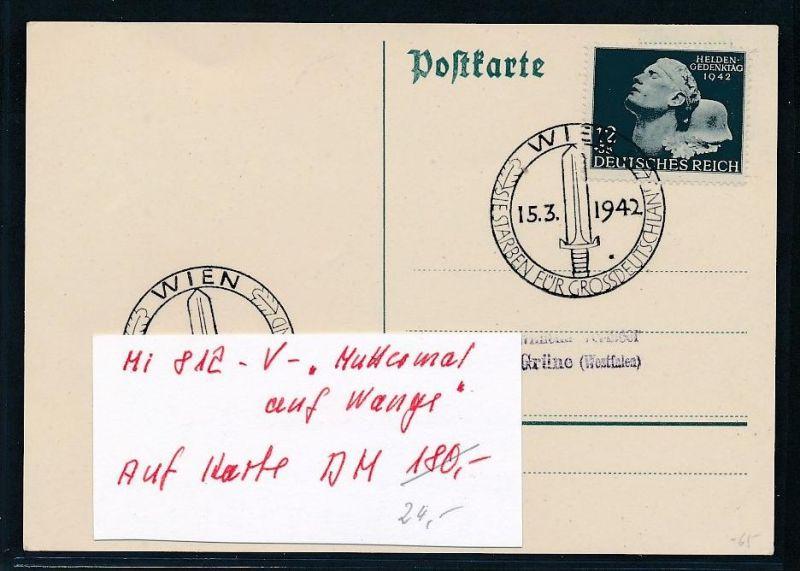 D.-Reich  Karte mit  812  V       (g2035  )  siehe Bild