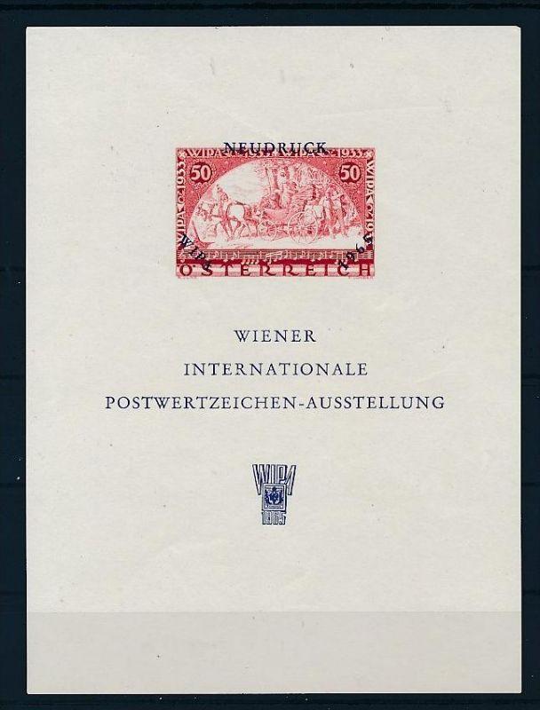 Österreich Neudruck Block   (ze2029  )  siehe Bild