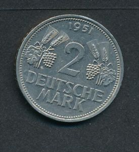 BRD-2,-D.-Mark   1951 D    (x2017  )  siehe Bild