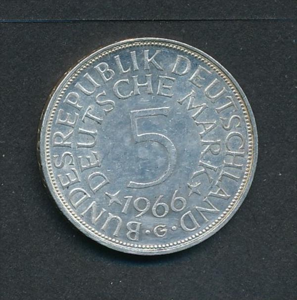 BRD-5,-D.-Mark   1966 G  Silber (x2010  )  siehe Bild