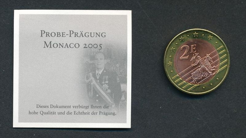 Monaco 2,- Euro  2005 Probe -Albert    (x2019  )  siehe Bild