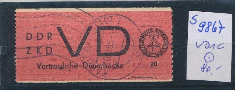 DDR ZKD   Nr VD 1 C   o  (s9867  )  siehe Bild