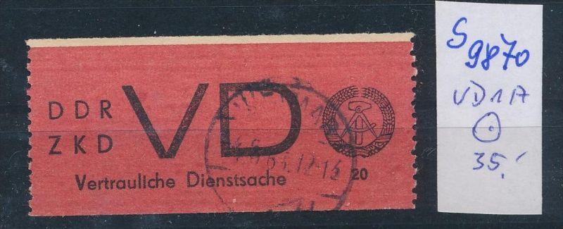 DDR ZKD   Nr VD 1 A     o  (s9870  )  siehe Bild