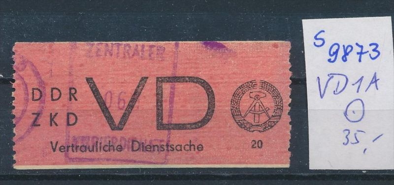 DDR ZKD   Nr VD 1 o    (s9873  )  siehe Bild