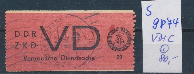 DDR ZKD   Nr VD 1 C   o    (s9874  )  siehe Bild
