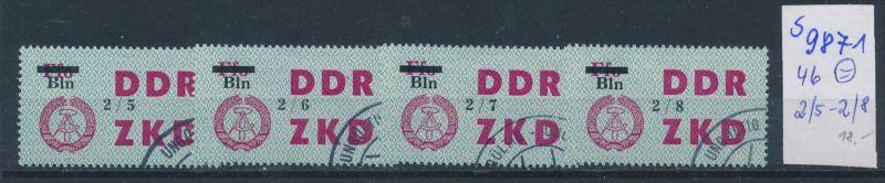 DDR ZKD   Nr .46   2/5-2/8     o    (s9871  )  siehe Bild