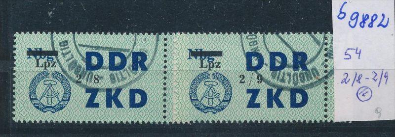 DDR ZKD   Nr .54  2/8-2/9     o    (s9882  )  siehe Bild