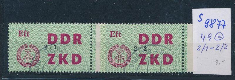 DDR ZKD   Nr . 49  2/1-2/2    o    (s9877  )  siehe Bild