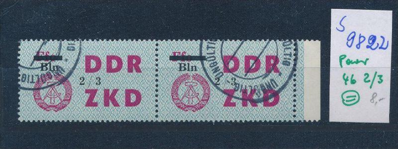 DDR ZKD   Nr . 46  Paar 2/3   o    (s9822  )  siehe Bild