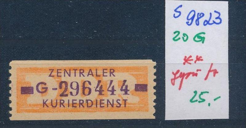 DDR ZKD   Nr . 20 G  ** geprüft    (s9823  )  siehe Bild