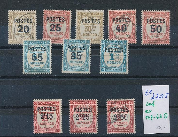 Frankreich Lot Porto Marken    (ze2205  )  siehe Bild