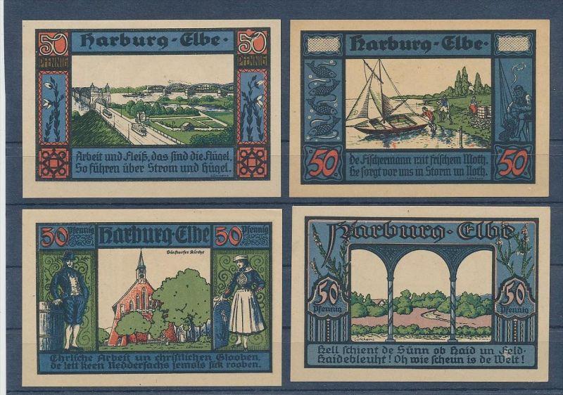 Harburg-Lot schöne Notgeldscheine-für die Heimatsammlung-?  ( g3337 ) siehe scan !