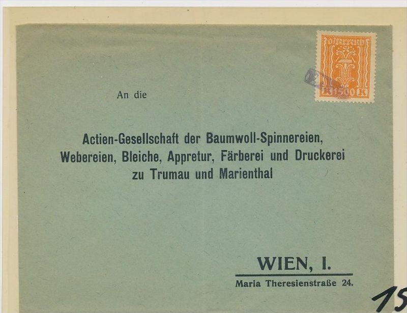 Österreich -Firmenpost  Beleg     (ze2337 )  siehe Bild