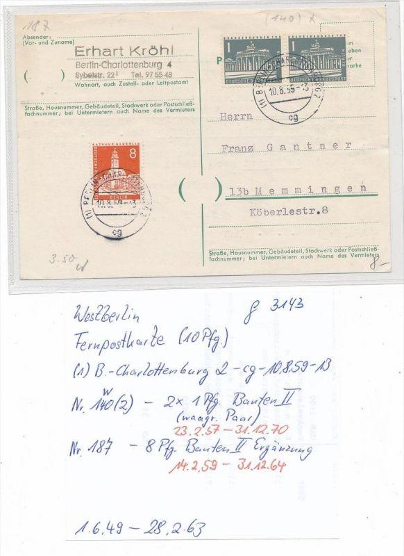 Berlin-West  -alter Beleg  -  (g3143  )  siehe Bild