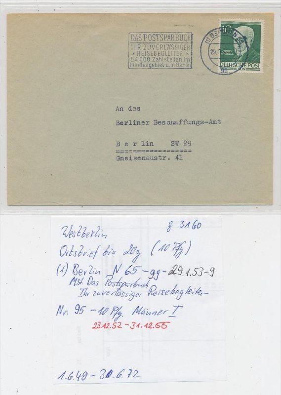 West-Berlin  - alter Beleg    (g3160 )  siehe Bild