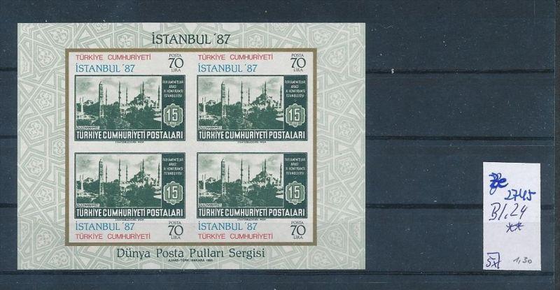 Türkei Block 24 Ze2745 Siehe Bild Discount