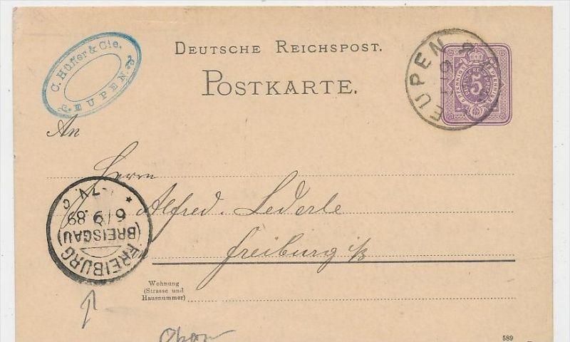D.Reich Stempel Beleg -GS  -Eupen   ... ( be8370  ) siehe scan