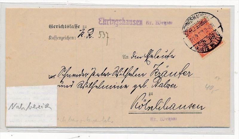 Gerichts Brief Ehringhausen    ( g4301   ) siehe Foto