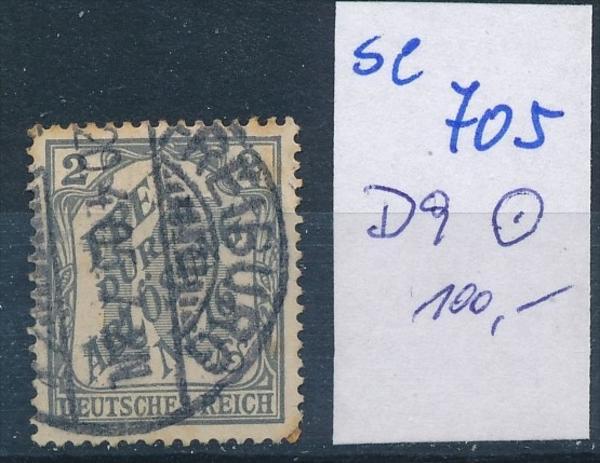 D.-Reich  Nr.  D 9    o    ( se 705   )  siehe scan