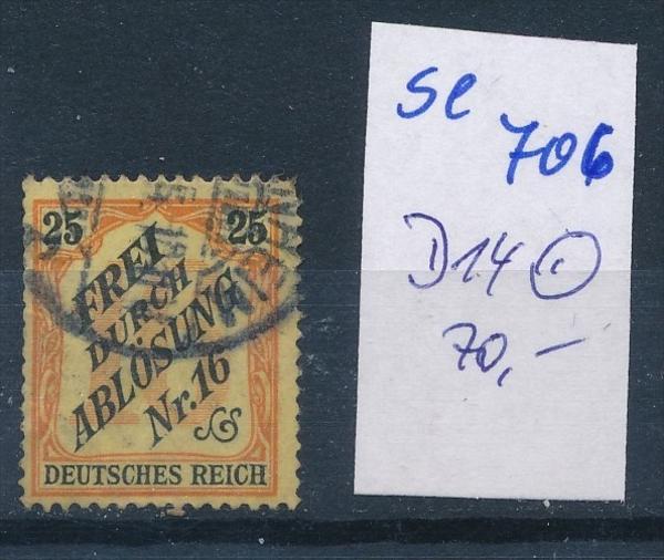 D.-Reich  Nr.  D 14      o    ( se 706   )  siehe scan