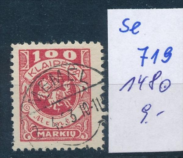 Memel      Nr. 146    o    ( se 719   )  siehe scan