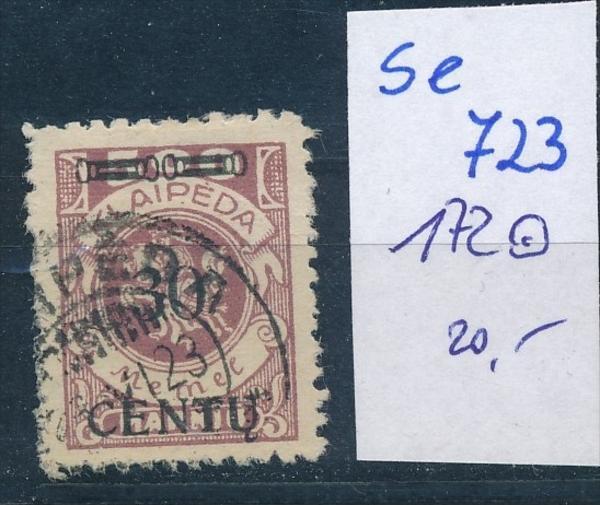Memel      Nr. 172   o    ( se 723   )  siehe scan