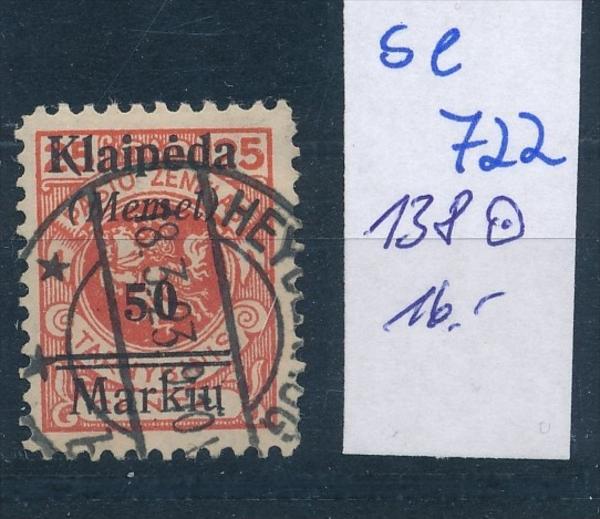 Memel      Nr. 138  o    ( se 722   )  siehe scan