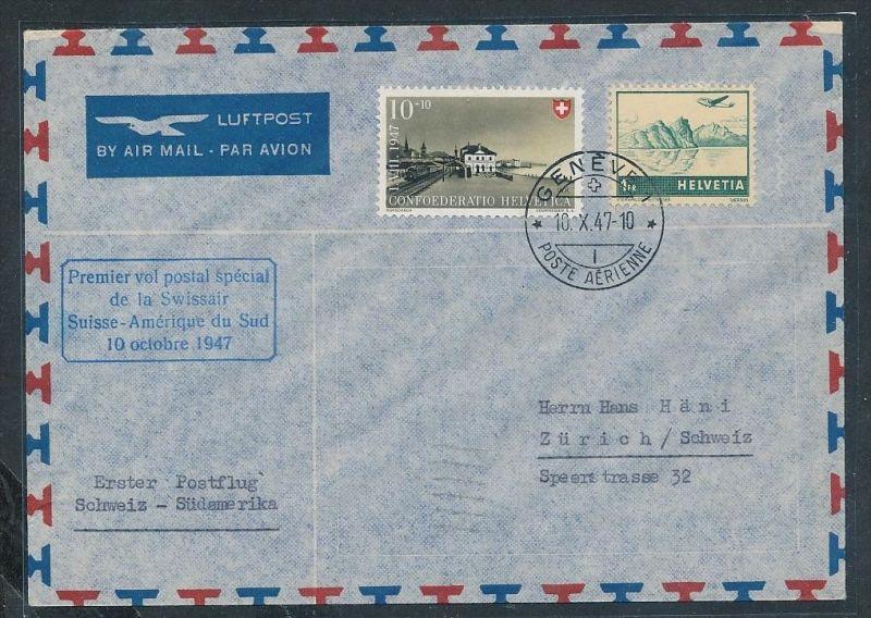 Schweiz-Flugpost Beleg (g6215 )  siehe Bild