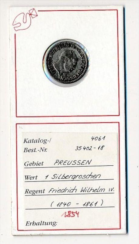 Preussen- 1  Silbergroschen  1856     (x2102   )  siehe Bild