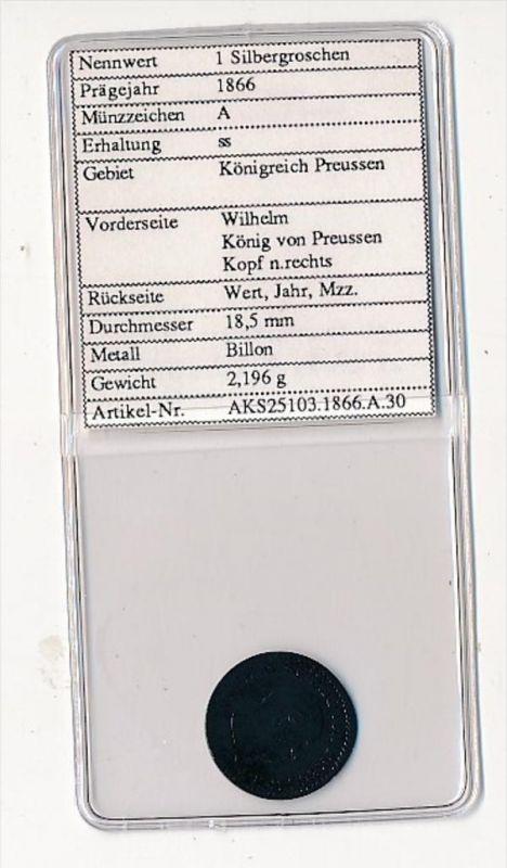 Preussen- 1   Silbergroschen  1866     (x2106   )  siehe Bild