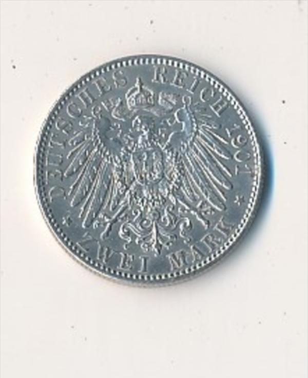 Preussen  2,-  Mark  1901  Silber     (x2125   )  siehe Bild