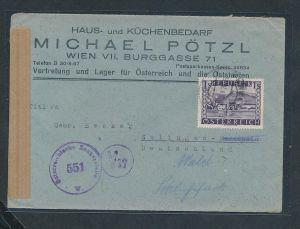 Österreich  -Zensur Post    ...  (g6152 -1 )  siehe Bild