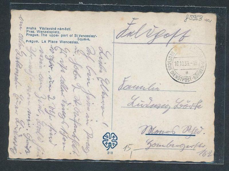 Feldpost Böhmen   -  Beleg   ...  (g5953 )  siehe Bild